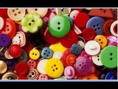 Reciclando botones. Lindas Gargantillas. DIY choker with buttons. ECODAISY
