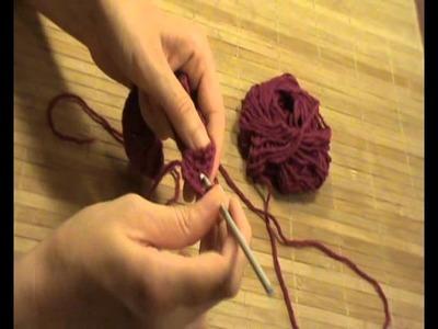 Rosa de ganchillo.crochet