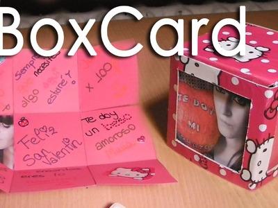 Scrapbook Boxcard (caja explosiva) || Manualidad para San Valentín