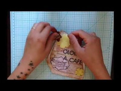 SCRAPBOOKING tutorial en español. mini album filtros de cafe