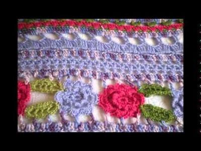 T&P - Teardrop Flowers - Manta a Crochet. Ganchillo