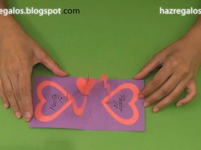 Tarjeta Pop-Up con Corazones - DIY - Pop-Up Card with Hearts