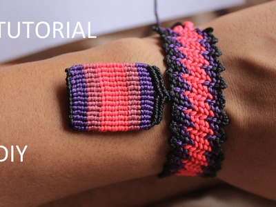 Tutorial aros macrame rectangulares | macrame earrings