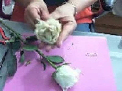 TUTORIAL DIY deshidratación con microondas  de rosas NATURALES