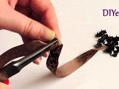 Tutorial DIY Pulsera tachuelas. Bracelet studs.