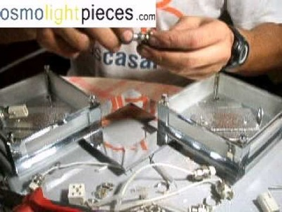 Tutorial (DIY) sustituir bombillas halógenas lineales 100w por bajo consumo G9 de 9w -- (B)