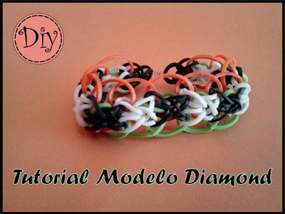 Tutorial Pulsera Gomas - Modelo Diamond