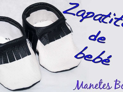 Zapatitos de bebé con patrón | Tutorial DIY