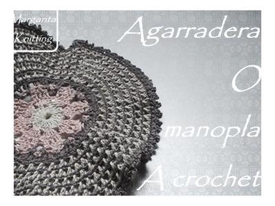 Agarradera - manopla para cocina a crochet (diestro)