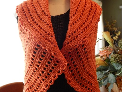 Bolero Chaleco Mandarina Crochet parte 3 de 3