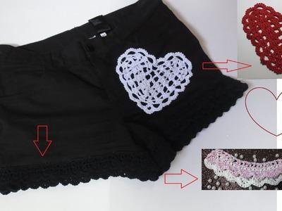Borde  shorts crochet