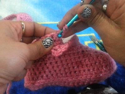 Botas Tejidas a Crochet   6-12  meses  PARTE 4