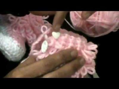 Botitas para bebe a crochet paso a paso (parte 4)