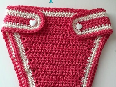 Braguitas cubrepañal a crochet para bebe de 0 a 3 meses