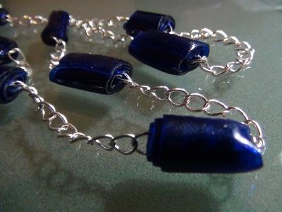 Còmo hacer bisutería con cuentas de botellas de plástico - How to make plastic bottle beads jewelry