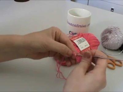 Como hacer el punto alto, punto vareta o pilares en ganchillo.crochet