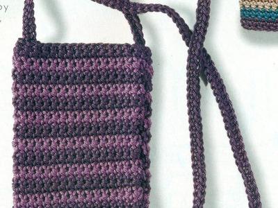 Como Tejer Bolsa y Funda Para Celular a Crochet