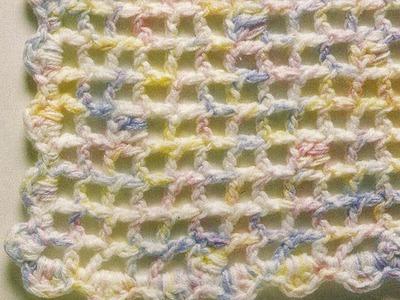 Como tejer manta a punto de red a crochet