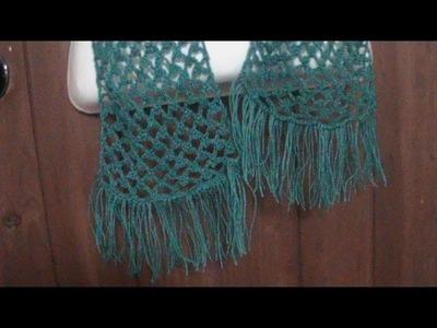 Como tejer una bufanda calada a crochet.