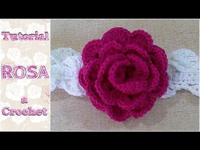 Como tejer una ROSA a crochet ganchillo