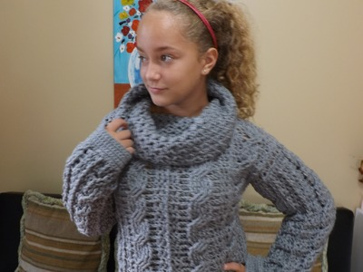 Crochet abrigo para adulto con trenzas parte 1 - con Ruby Stedman