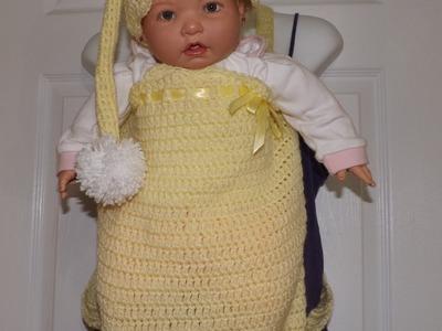 Crochet Cocoon Con Tirantes Para Cargar el Bebe'