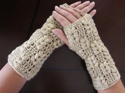 Crochet : Guates sin dedos (Mitones). Parte 2 de 3