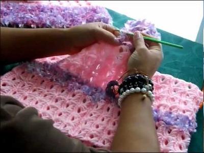 Crochet Poncho en Punto Palo de Escoba Parte 3