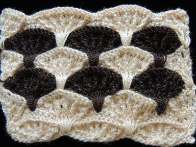 Crochet : Punto Abanico en Relieve. Parte 2 de 3