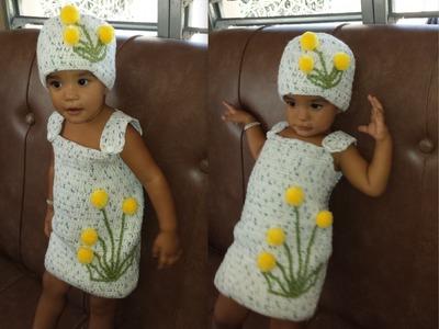 Crochet Vestido De Niña de 1 a 2 Años.