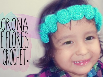 DIY: CORONA DE FLORES EN GANCHILLO (FACIL). CROCHET FLORAL CROWN (EASY) ♥