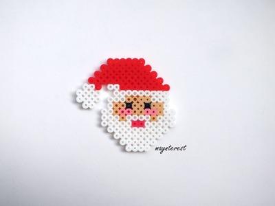 Manualidades Navidad: PAPÁ NOEL o SANTA CLAUS de hama beads | Adornos navideños