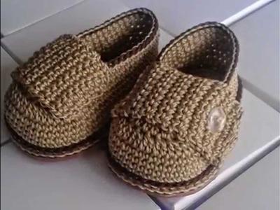 Mocasín Bebé a Crochet - Rosa Forno Collection