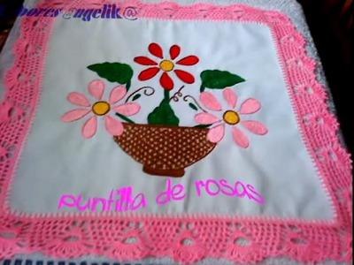 PARTE 1 DE 2:  PUNTILLA DE ROSAS A GANCHILLO.