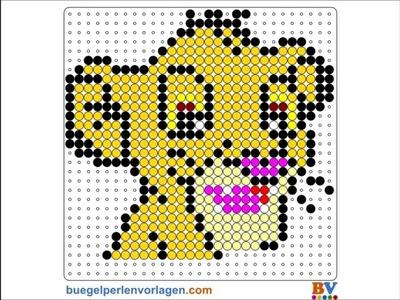 Plantillas Hama Beads Tutorial #3 - Simba - El rey leon