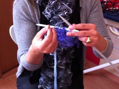 Video de bufanda con el SEVILLA de Hilaturas LM