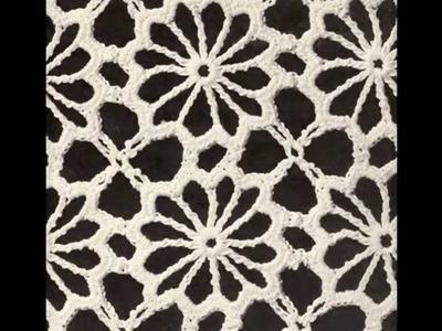 Como Tejer Camino de Mesa Lucecitas a Crochet