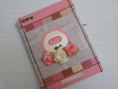 Decora tu libreta. SCRAPBOOK. sustituye herramientas de scrap  (IDEA)