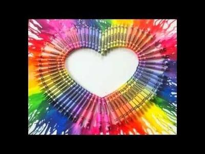 DIY. Crayon Melting Art ♥ Manualidades. Crayolas Derretidas