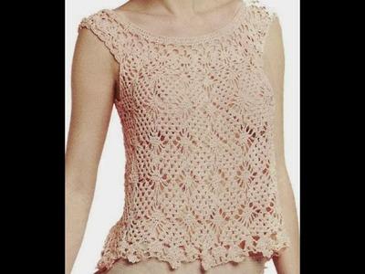 GRÁFICOS para tejer blusa rosa a crochet NO ES TUTORIAL