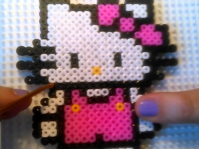 Hello Kitty de Hama Beads  HD By Rainbowman