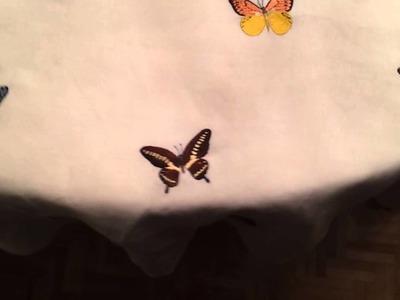 Mariposas bordadas a mano reales