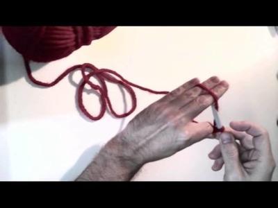Tutorial de Punto Cadeneta (crochet) paso a paso
