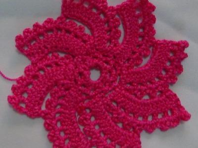 Tutorial Paso a Paso Como Tejer Girándula a Crochet