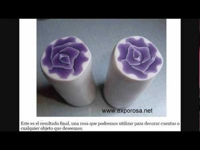 Caña de arcilla polymérica -Rosa