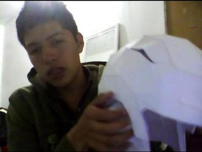 Casco del Gran Saiyaman Papercraft [PROYECTO PARTE 1]