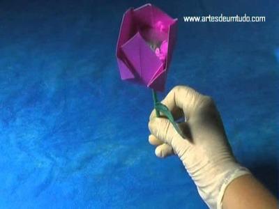 Como Fazer Origami #27 FLOR com BOMBOM Modelos