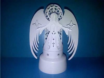 DISEÑO ÁNGEL DE PAPEL. DESIGN ANGEL OF PAPER (ORIGAMI. KIRIGAMI)