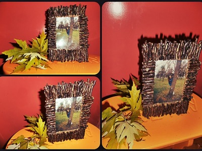 DIY Fall Decorations picture frame. Dekoracija jesen ram. Decoración de otoño marco de imagen