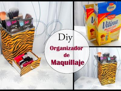 DIY:Organizador de maquillaje (makeup organizer)